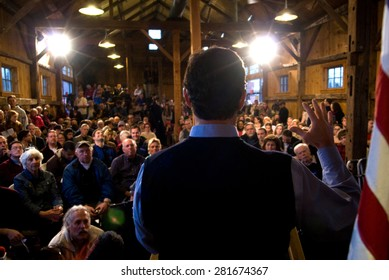 Former Pennsylvania Senator Rick Santorum speaks in Hollis, New Hampshire, on January 7, 2012, during the New Hampshire primary.
