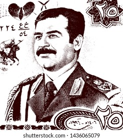 Former President of Iraq Saddam Hussein in the Iraqi Armed Forces Uniform