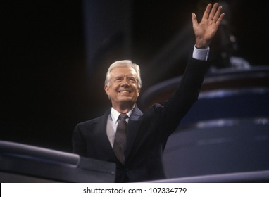 Former President Jimmy Carter at the 1992 Democratic National Convention at Madison Square Garden, New York