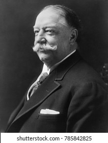 Former President William H. Taft, in 1916. He was then Kent Professor of Law and Legal History at Yale Law School. He published, Our Chief Magistrate and His Powers in 1916