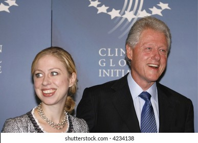 Former President William J. Clinton and his daughter Chelsea Clinton