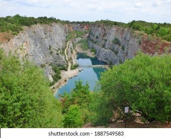 Former quarry - Big America Canyon, near Karlstejn, Prague, Czech republic (Lom Velka Amerika)