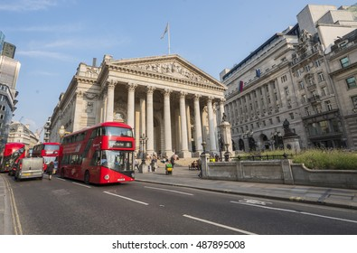 Former Royal Stock Exchange Building in London - LONDON / ENGLAND - SEPTEMBER 14, 2016
