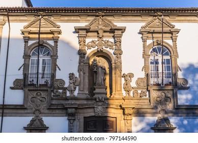 Former Saint Clara convent, today City Hall building in Guimaraes city, Norte region of Portugal