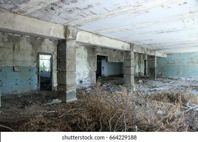 Former Soviet supermarket in the abandoned city