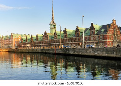 Former stock exchange building and canals - Copenhagen, Denmark