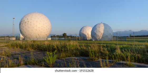 Former United States Army Security Agency Field Station at Bad Aibling in Germany. The base was closed in 2004 and returned to the Federal Republic of Germany. Area is now used as a technology park.