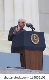 Former US President Jimmy Carter speaks at the Lincoln Memorial August 28, 2013 in Washington, DC., the 50th anniversary of Dr. Martin Luther King Jr.'s speech and the March on Washington.