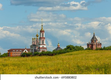 Former village Mikhailova Storona, which became part of Suzdal in XX century. From left to right:  Archangel Michael church with belfry, church of Florus and Laurus, church of Alexander Nevsky.