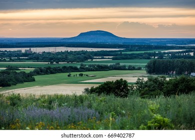 Former volcano mountain Somlo in Hungary