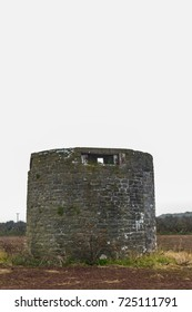 Former windmill with loopholes for anti-invasion defence. Angle, Pembrokeshire, Wales, United Kingdom.