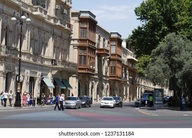 Former Zevin street in central Baku Baku, Azerbaijan - 25 June, 2018