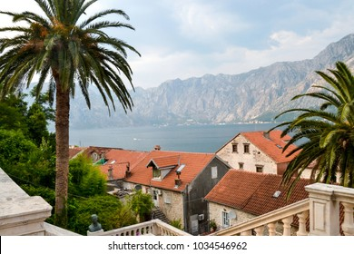 A formerly prosperous maritime town, Prcanj in Montenegro has lots of old venetian style stone buildings, a couple of restaurants, a bakery, a minimarket, a post office and a baroque catholic church