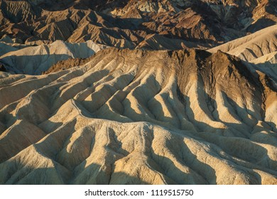 forms, shapes and pattern at death valley hills at sunrise