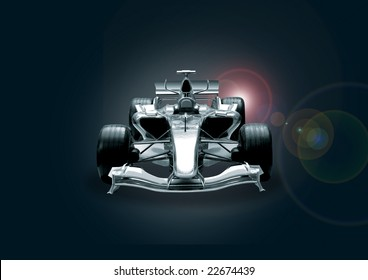 formula one car in black and chrome