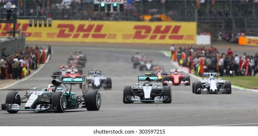 the Formula One Grand Prix of Great Britain at Silverstone Circuit on July 5, 2015 in Northampton, England.