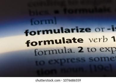 formulate formulate concept.
