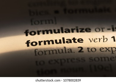 formulate word in a dictionary. formulate concept