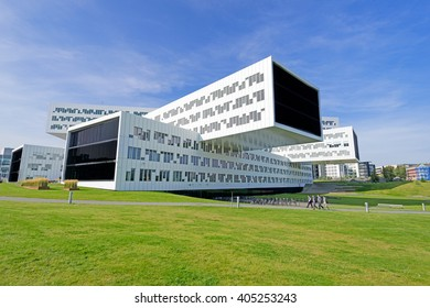 FORNEBU, NORWAY - SEPTEMBER 10: Statoil office building on September 10, 2015. Statoil Norwegian oil and gas company with operations in thirty-six countries and with about 23 000 employees.