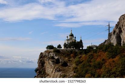 Foros church near the village of Foros (Crimean peninsula).