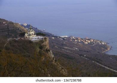 Foros Church on a cliff in the Crimea