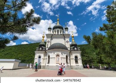 Foros. Crimea - June 9. 2019. Church of the Resurrection