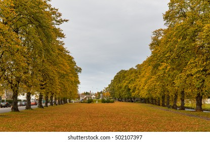 FORRES, MORAY,SCOTLAND - 20 OCTOBER: This is a scene from within the town of Forres, Moray, Scotland on a grey Autumn afternoon, 20 October 2016