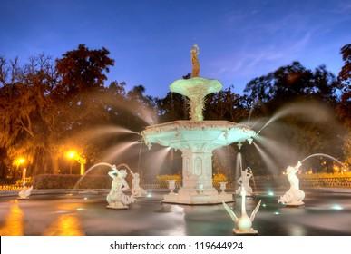 Forsyth Fountain in Savannah, Georgia