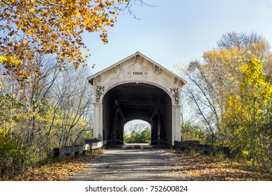 The Forsythe Mill Covered Bridge, built in 1888 by Emmett L. Kennedy, spans  the Big Flat Rock River in rural Rush County, Indiana.