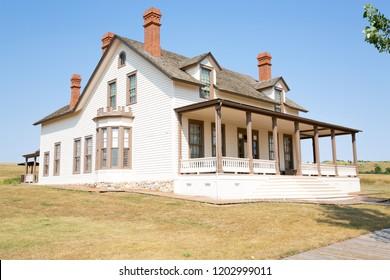 Fort Abraham Lincoln State Park, Custer House, North Dakota, USA, 08-20-2018