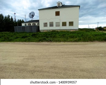 Fort Albany First Nation, Ontario/Canada - 05/17/2015: Shots of the St. Anne's Residential School rectory before it burned to the ground in September 2015