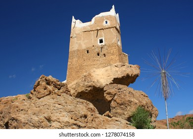 Fort Al-Ghwayzi, an ancient fortress in Mukalla, the capital of the Hadhramaut governorate in Yemen