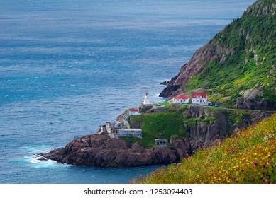 Fort Amherst lighthouse on Atlantic coast in St. John's, Newfoundland