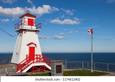 Fort Amherst Lighthouse in St. John's. St. John's, Newfoundland and Labrador, Canada.