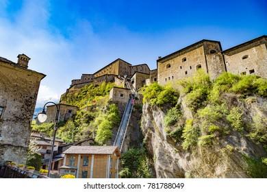 The Fort of Bard, Hone, Aosta Valley, Italian Alps, Italy