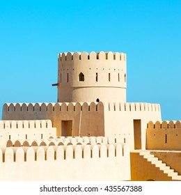 fort battlesment sky and    star brick in oman   muscat the old defensive