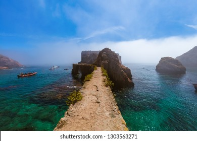 Fort in Berlenga island - Portugal - architecture background
