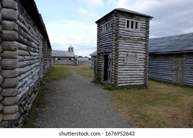 Fort Bulnes, near Punta Arenas Chile: the prison and the church in the background
