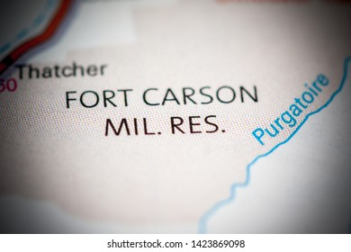 Fort Carson Mil. Res. Colorado. USA on a map