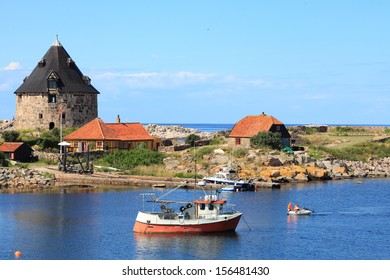 Fort Christiansoe island Bornholm in the Baltic Sea Denmark Scandinavia Europe