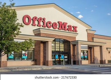 FORT COLLINS, CO, USA - SEPTEMBER 16, 2014: OfficeMax, currently brand of Office Depot, sells  office supplies in over 1000 United States locations.