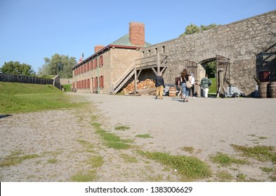 Fort Erie, Ontario / Canada - 09-20-2014: The site of  Old Fort Erie in the Niagara region. It is located across the river from Buffalo, New York, and played important role in the War of 1812.