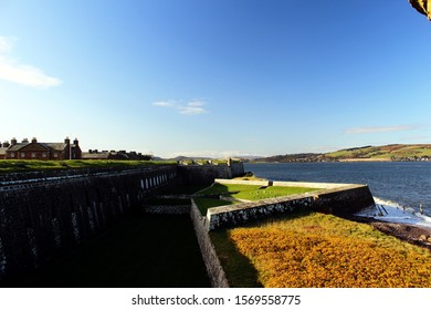 Fort George, Inverness, Scotland, UK, October 28, 2019 - Fort George Parapet in the North Sea