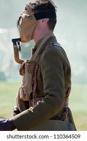 FORT GEORGE, SCOTLAND - AUGUST 11: An unidentified actor in World War 1 costume entertains the crowds at the annual Celebration Of The Centuries event on August 11, 2012 at Fort George, Scotland.