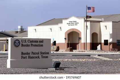 FORT HANCOCK, TX - MARCH 15: A U.S. Customs and Border protection station located in Fort Hancock, Texas on March 15, 2014. CBP is part of the United States Department of Homeland Security.