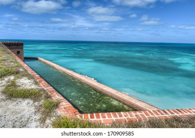 Fort Jefferson at Dry Tortugas National Park. Fort Jefferson was built to protect one of the most strategic deepwater anchorages in North America.