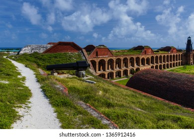 Fort Jefferson Interior in Dry Tortugas National Park in Florida, United States