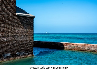 Fort Jefferson with Loggerhead Lighthouse in distance
