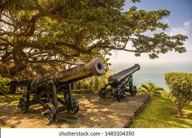Fort King George Park in Scarborough, Trinidad und Tobago