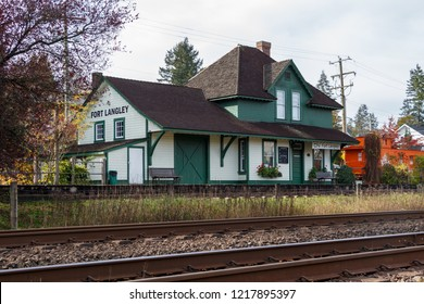Fort Langley, Canada - Circa 2018 - Fort Langley CN Rail Station